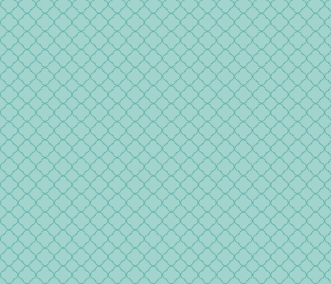 Lattice Pattern Teal on Light Blue fabric by gwendegroff on Spoonflower - custom fabric