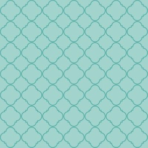 Lattice Pattern Teal on Light Blue