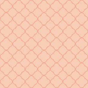 Lattice Pattern Coral on Light Pink