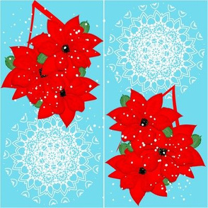 Poinsettia Snowflakes  Red Christmas Flowers