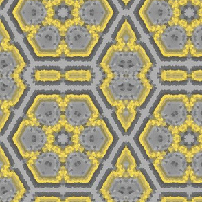 Gray and Yellow Mosaic