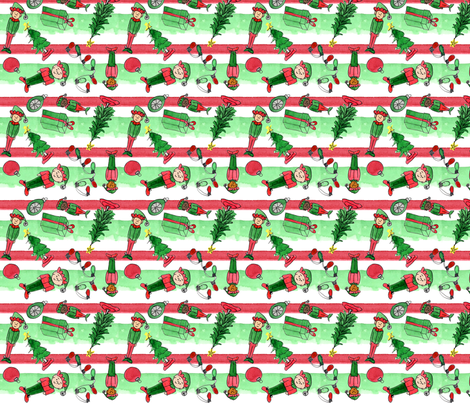 Christmas Elves fabric by eileenmckenna on Spoonflower - custom fabric