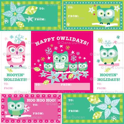 Happy Owlidays! Gift Tags