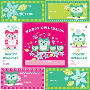 Happy Owlidays! Gift Tags