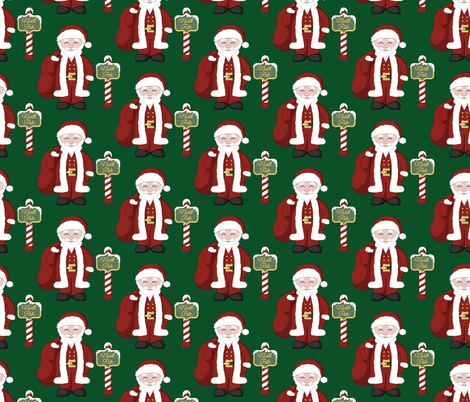 Santa and the North Pole fabric by juliematthews on Spoonflower - custom fabric