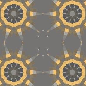 Gray and Yellow Sun Geometric