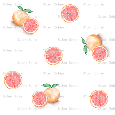 Grapefruit // Whimsical Watercolour