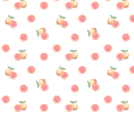 Grapefruit // Whimsical Watercolour  fabric by jenschierstudio on Spoonflower - custom fabric