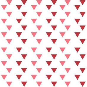 Red & Pink Triangles // Geometric // Whimsical