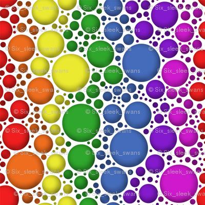 Rainbow bubbles with shading