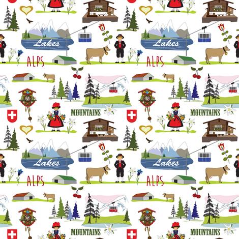 Swiss Alpine design fabric by peppermintpatty on Spoonflower - custom fabric