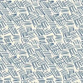 chicken scratch plaid ivory navy