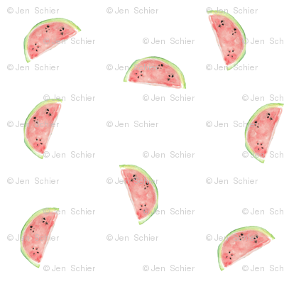 Watermelon Slices // Fruit // Whimsical // Cheery