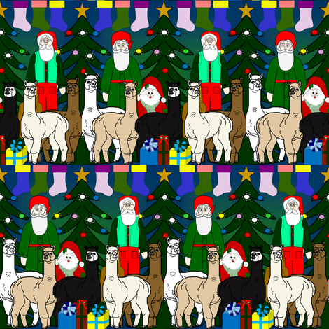 Alpaca Christmas  2016  Fabric F fabric by lworiginals on Spoonflower - custom fabric