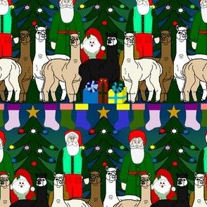Alpaca Christmas  2016  Fabric F