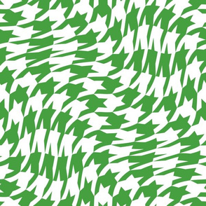 Christmas green houndstooth twist