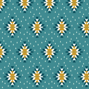 Tribal Diamond Teal