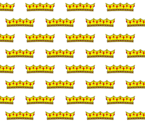 Red Tiara 2- White Background fabric by essieofwho on Spoonflower - custom fabric