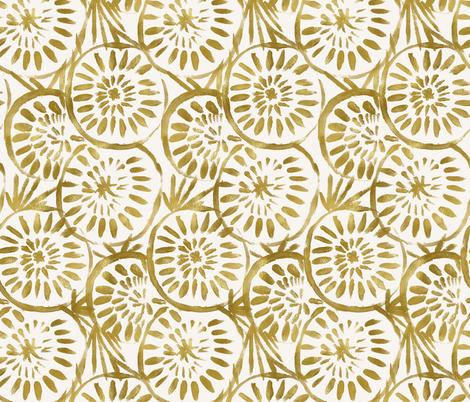 Medallions - Gold fabric by crystal_walen on Spoonflower - custom fabric