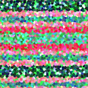 FNB3 - Stripes of Digital Glitter in Red - Pink - Green - Crosswise
