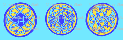 3 Celtic Rounds Blue