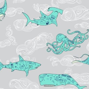 Ahoy Moby&Co (aqua)