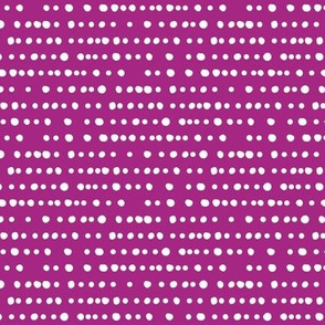 modern dino - dotty stripes on twilight magenta