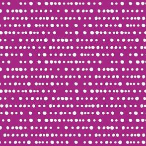 modern dino - dotty stripes on twilight magenta
