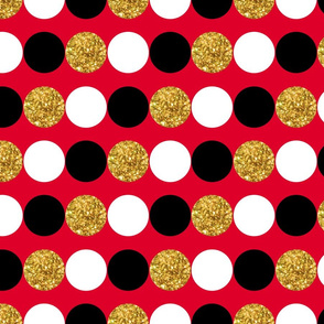 Dots in a row - Red Background