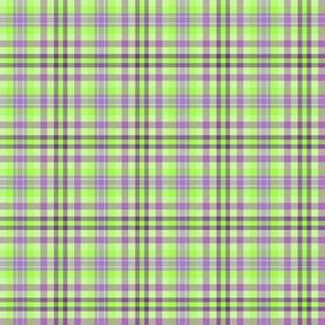 FNB2 - Mini Lime Green and Purple Pastel Plaid