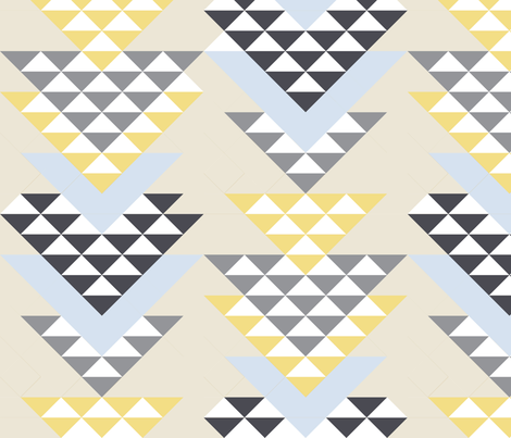 VENECIA Collection Little Triangle Filled fabric by lamaridesign on Spoonflower - custom fabric
