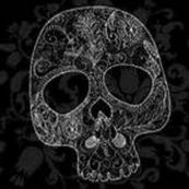 Lace Skull Damask