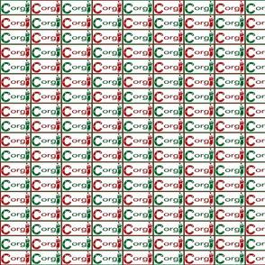 Cardigan Welsh Corgi sploot Christmas name tags B