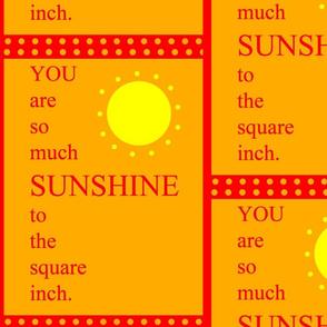 So Much Sunshine - orange