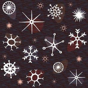 Atomic Style Snowflakes