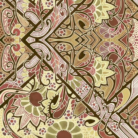 Wallflower Seranade fabric by edsel2084 on Spoonflower - custom fabric