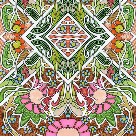 Garden party fabric edsel2084 spoonflower for Garden party fabric by blackbird designs