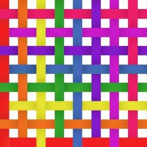 Rainbow woven stripes