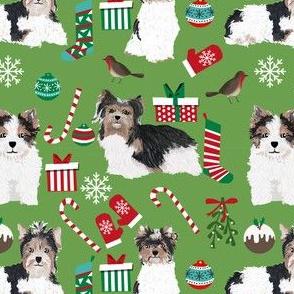 biewer terrier dog fabric cute christmas dog designs dog fabrics dog christmas