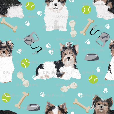 biewer terrier dogs fabric toy dog fabric toy breeds fabric cute biewer terriers fabric
