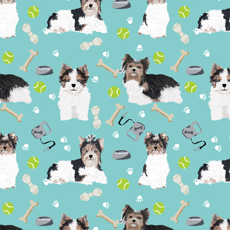 biewer terrier dogs fabric toy dog fabric toy breeds fabric cute biewer terriers fabric fabric by petfriendly on Spoonflower - custom fabric