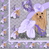 Yorkie - Kentucky Derby Quilt Panel - Biewer