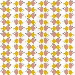 Mod Crescent Loops peach and yellow