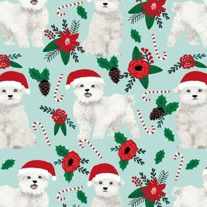 maltese christmas poinsettia fabric cute christmas dogs fabric xmas holiday dog fabric cute maltese toy breeds fabric