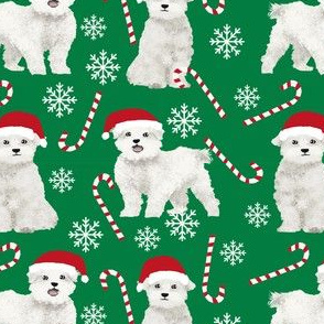maltese dogs snowflakes and peppermint fabric red and green christmas fabrics cute xmas holiday dogs