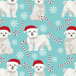 maltese dogs fabric cute xmas holiday christmas fabrics cute peppermint sticks and snowflakes fabric