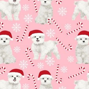 maltese christmas fabric cute maltese xmas peppermint fabric cute toy breed dog fabric