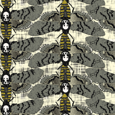 Death Moths fabric by susiprint on Spoonflower - custom fabric