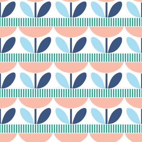 Flowers in a row fabric by anna-lena on Spoonflower - custom fabric