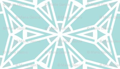 Crystal Ice Blue Snowflake